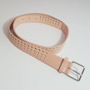 Light Pink laser-cut Belt w/ Silver Buckle by GAP